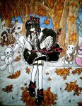 Akiyume in the owl's garden ( 2013 ) by JunBaskerville