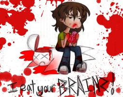 I EAT YOUR BRAINZ by Number-14