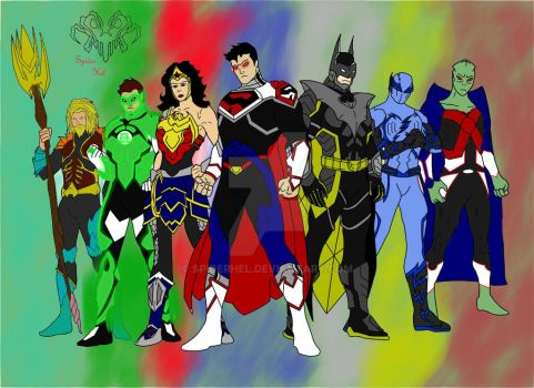 Justice League(New Earth) by SpiderHel