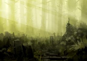 deep forest graves by GoblinHood
