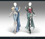(CLOSED) Adoptable Outfit Auction 147 - 148 by Risoluce