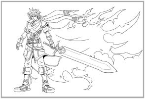 Kingdom Hearts-Ike LINES by arvalis