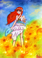 Sunflower Girl by Lunell