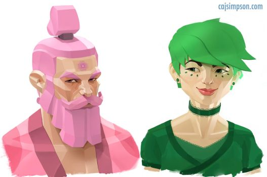 Pink and Green by ChicoBlue