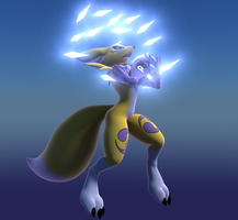 Renamon diamond storm by Aurelio-hl2