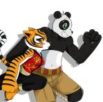 KFP:Po and Tigress by ss2sonic