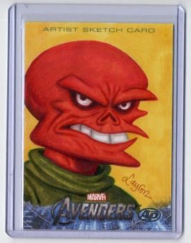 FOR SALE: AVENGERS Red Skull Sketch card on eBay by DeJarnette