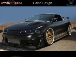 Mitsubishi Eclipse black matte by flaviobauck