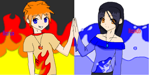 The Fire and Water Twins by Kobi-anime-fan