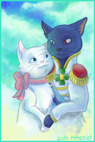 The Cat Returns- Yuki and Lune by Atherist