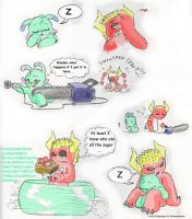 Devil and Sweetpea: XD by Mickeymonster