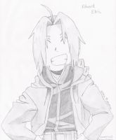 Edward Elric sketch :D by CobaltRain22