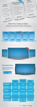 Web Price Table and Slider by femographi
