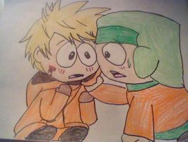 Kenny X Kyle south park by Kawaii-Crayons