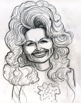 Caricature of Dolly Parton-classic look by Caricature80