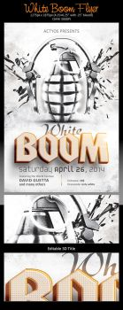 White Boom Flyer Template | FREE PSD by ActYos