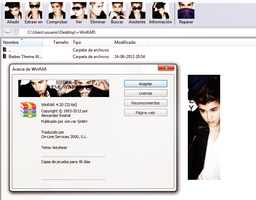 Bieber Theme {WinRAR} by leeybear