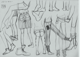 Legs Sketches by SajoPhoe