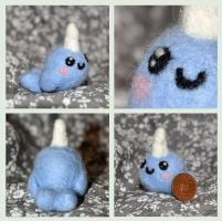 Needle felt Narwhal by Indae