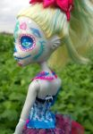 Monster High Day of the Dead Custom Lagoona Blue by AdeCiroDesigns