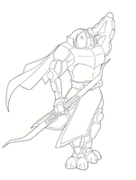 Monzonite archer lineart by Mercurian