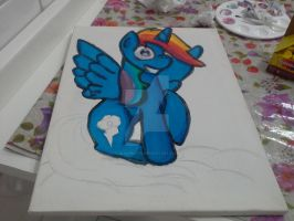 painting rainbow dash alicorn :3 part 2 by BiaApplePie