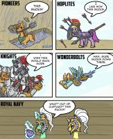The struggles of the Equestrian Army by Sensko