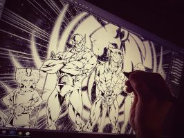working on a Thundercats Commission by marvelmania