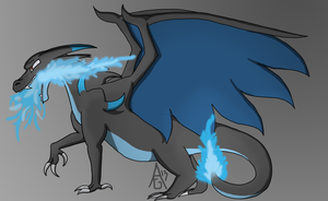 Mega Charizard X by TheAmbears