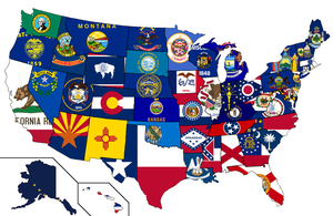 United States - Flag Map by HeerSander