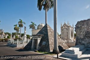 Havana, Cemetery Cristobal Colon, Pyramid by iconicarchive