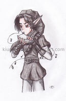 Dark Link playing the ocarina by Kiuna-chan