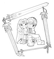 Lavena and Tyrael BFF Inked by LilithOya