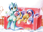 Lyra and Bon Bon by Jiayi