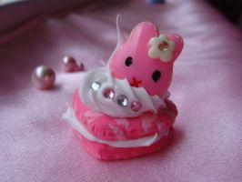 Pink Bunny Macaroon by Lustfulwish