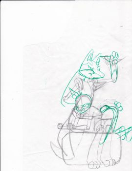 sketch (A wild lucario appears) by barkyhito