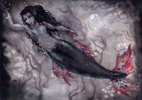 Goth merman by liselotte-eriksson