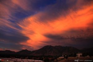 Sunset Over the Wasatch by mjohanson