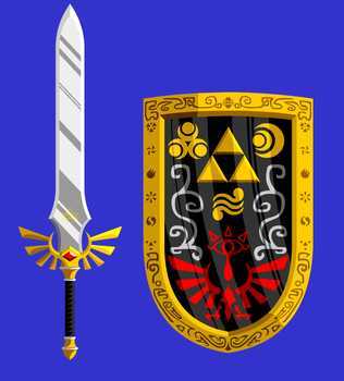 Magic sword and shield by MagicMushroomTony