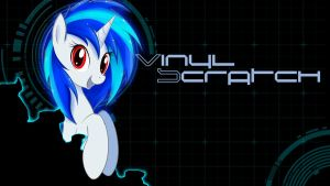 Vinyl Scratch Wallpaper by Derpydeponson