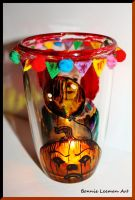 Halloween Pumpkin Candle Jar by Bonniemarie