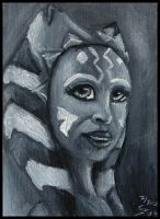 ACEO - Ahsoka by Steeljren