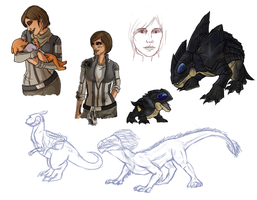 SWTOR Doodles by Gellyh