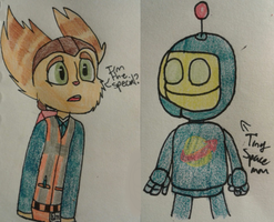 Ratchet Brickowski and Clank the Spaceman by Dubstep-Galaxy