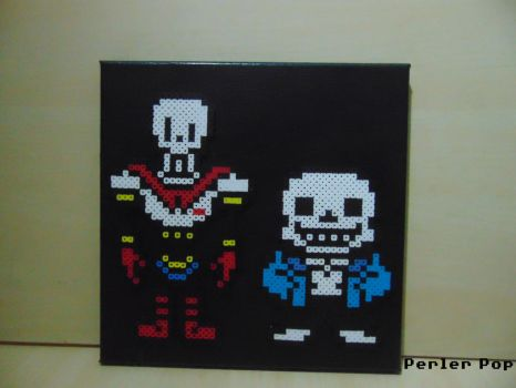 Skeleton Brothers On Canvas by Perler-Pop