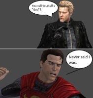 Injustice: Wesker vs Superman by xXTrettaXx