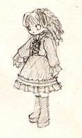 Gothic lolita doodle by girlinblack