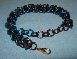 bronze n turquoise bracelet by BardicKitty