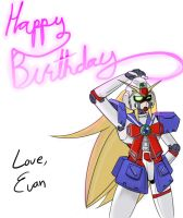 Birthday Drawing: Noble Gundam by Dakazis-Bro