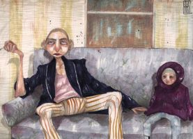 sofa people by Russalad
